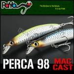 (농어용)페르카 98 맥캐스트 98mm, 11.2g, F 내만권 농어 공략 최고의 비거리 소형 미노우! (A-1)